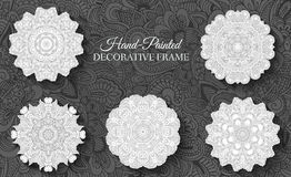 Hand drawn abstract background ornament Stock Image