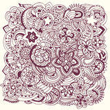 Hand drawn abstract background ornament Royalty Free Stock Images