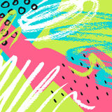Hand drawn Abstract background. Vector illustration. For greeting card royalty free illustration
