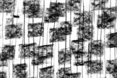 Hand drawn abstract charcoal texture on a paper. Squares and lines royalty free illustration
