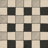 Hand drawn abstract chessboard pattern. Stock Photo