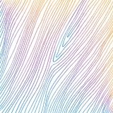 Hand drawn abstract colored thin lines on white background. Reminds wooden texture. Vector pattern Stock Images