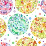 Hand drawn abstract doodle background Stock Images