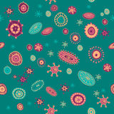 Hand drawn abstract elements seamless pattern. Vector illustration in eps8 format Royalty Free Stock Photo