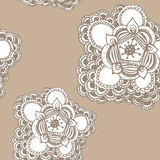 Hand drawn abstract flower seamless pattern Royalty Free Stock Image