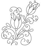Hand drawn abstract flowers Royalty Free Stock Photos