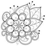 Hand drawn abstract flowers Royalty Free Stock Images