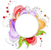 Hand drawn abstract flowers Stock Photo