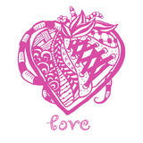 Hand drawn abstract heart Royalty Free Stock Photography
