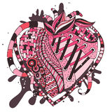 Hand drawn abstract heart Stock Photo