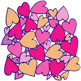 Hand drawn abstract heart Stock Images