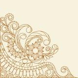 Hand-Drawn Abstract Henna Mehndi Stock Photo