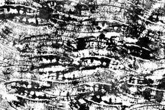Hand drawn abstract ink texture on a paper. Irregular banana`s imprint stock illustration