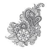 Hand-drawn Abstract krabbelpatroon Stock Foto's