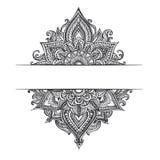 Hand-drawn Abstract krabbelpatroon Royalty-vrije Stock Foto's