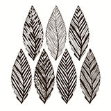 Hand drawn abstract leaves,  set . Stock Photos