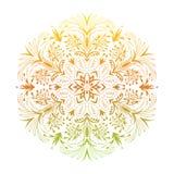 Hand drawn abstract mandala design. Vector holographic round pattern. Arabesque design element vector illustration