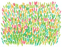 Hand drawn abstract marker spring lawn background stock illustration