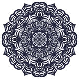 Hand drawn abstract ornamental round lace doily Royalty Free Stock Photo