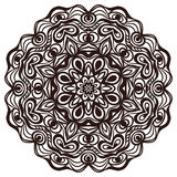 Hand drawn abstract ornamental round lace doily Stock Images