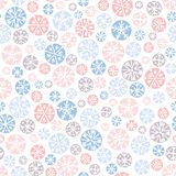Hand drawn abstract pastel Christmas snowflakes vector seamless pattern background. Winter Holiday Nordic. Hygge. Hand drawn abstract Christmas pastel, pink vector illustration