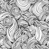 Hand-drawn abstract patroon Stock Afbeelding