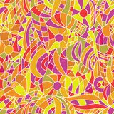 Hand-Drawn Abstract Seamless Pattern Stock Image