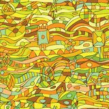 Hand-Drawn Abstract Seamless Pattern Royalty Free Stock Image