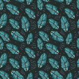 Hand drawn abstract seamless pattern. With fir tree branch Stock Photography