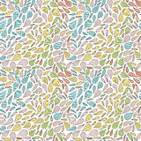 Hand drawn abstract seamless pattern in memphis style. Vector colorful bright colors on white background. Royalty Free Stock Photos