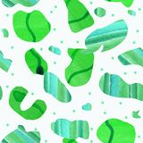Abstract seamless pattern of a modern art style. vector illustration