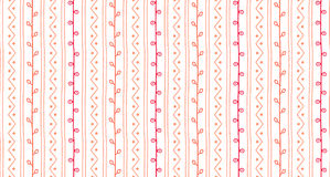 Free Hand Drawn Abstract Spring Branch Texture. Seamless Sketch Vector Pattern. Twigs Lines And Zigzags With Circles On White Royalty Free Stock Photography - 89679477