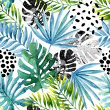 Hand drawn abstract tropical summer background stock images