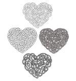 Hand drawn abstract, unusual doodle hearts Stock Photo