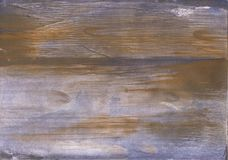 Brown Blue blurred wash drawing design Stock Images