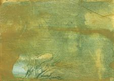 Dark khaki nebulous watercolor texture Stock Images