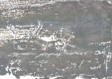 Gray nebulous wash drawing picture. Hand-drawn abstract watercolor texture. Used contrasting and transient colors Royalty Free Stock Image