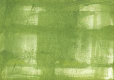Green clouded watercolor pattern. Hand-drawn abstract watercolor texture. Used contrasting and transient colors Royalty Free Stock Photography