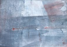 Light slate gray nebulous aquarelle paper. Hand-drawn abstract watercolor texture. Used contrasting and transient colors Stock Image