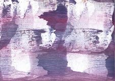 Purple hand-drawn wash drawing paper. Hand-drawn abstract watercolor texture. Used contrasting and transient colors Royalty Free Stock Photos