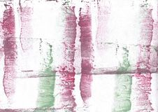 Red Green abstract watercolor illustration royalty free stock images