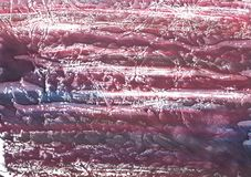 Red violet marble abstract watercolor paper. Hand-drawn abstract watercolor texture. Used contrasting and transient colors Royalty Free Stock Images