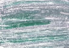 Slate gray green nebulous watercolor paper. Hand-drawn abstract watercolor texture. Used contrasting and transient colors Stock Photography