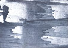 Slate gray nebulous wash drawing design. Hand-drawn abstract watercolor texture. Used contrasting and transient colors Royalty Free Stock Photo