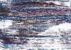 Violet blue hand-drawn wash drawing picture. Hand-drawn abstract watercolor texture. Used contrasting and transient colors Stock Photos