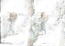 White smoke nebulous watercolor painting. Hand-drawn abstract watercolor texture. Used contrasting and transient colors Royalty Free Stock Image