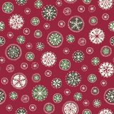 Hand drawn abstract white Christmas snowflakes vector seamless pattern background. Winter Holiday Nordic. Yuletide.Hygge. Hand drawn abstract Christmas white and royalty free illustration