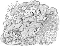 Hand drawn abstract  zendoodle background Royalty Free Stock Photos