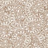 Hand-Drawn Abstracte patroon van hennamehndi. Royalty-vrije Stock Afbeeldingen