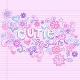Hand-Drawn Abstracte Schetsmatige Krabbels Cutie Stock Foto's